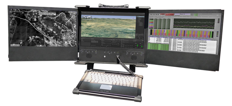 AGS-MCCS-3U | Rugged Triple-Display Command & Control System