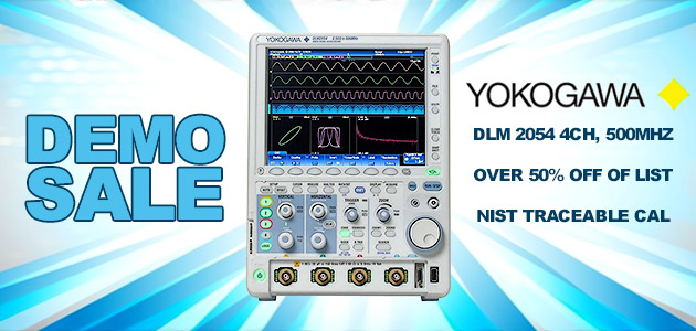 Yokogawa DLM 2054 4ch, 500MHz - Over 50% off of List Price - Comes with NIST Traceable Cal